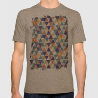 TRIANGLES Mens Fitted Tee Tri-Coffee SMALL