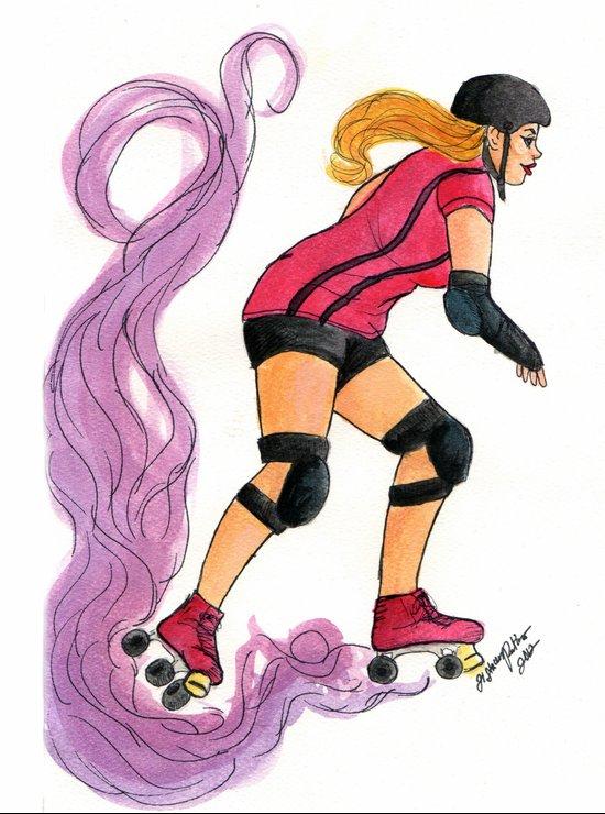 Roller Gurl Art Print