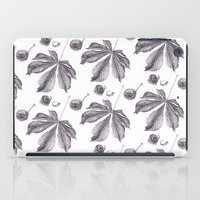 Floral pattern horse-chestnut iPad Case