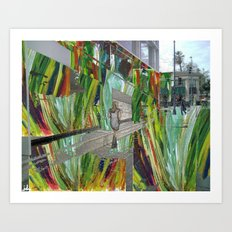 WALKING ON BEVERLY HILLS Art Print