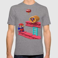 Inside Donkey Kong Mens Fitted Tee Tri-Grey SMALL