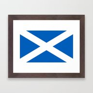Flag Of Scotland - High … Framed Art Print