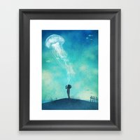 The Thing About Jellyfis… Framed Art Print