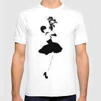 Black Swan | Ballerina | Dancer  Mens Fitted Tee White SMALL