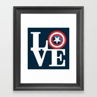 Captain's Love Framed Art Print