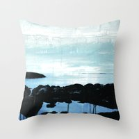 The ocean and me Throw Pillow