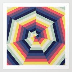 Heptagon Quilt 2 Art Print