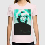 Marilyn *** Womens Fitted Tee Light Pink SMALL