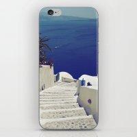 Santorini Stairs II iPhone & iPod Skin