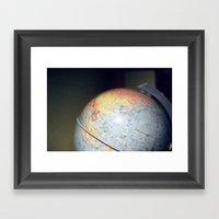 Vintage Globe Framed Art Print