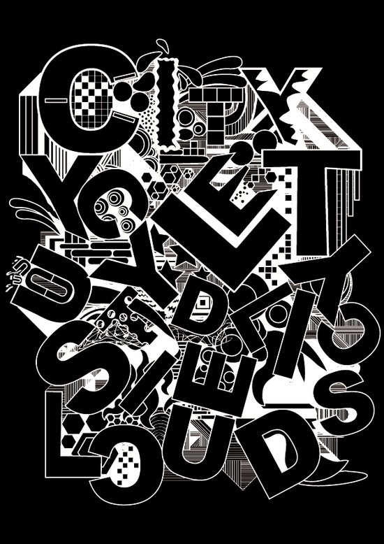 Typography mayhem Art Print