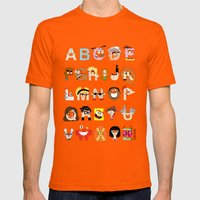 Child Of The 00s Alphabe… Mens Fitted Tee Orange SMALL