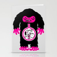 Yeti stomach contents Stationery Cards