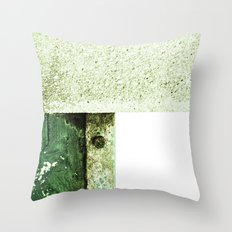 White Green Concrete Throw Pillow