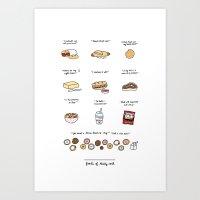 Foods Of 30 Rock Art Print