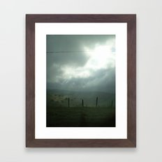 wired sky Framed Art Print