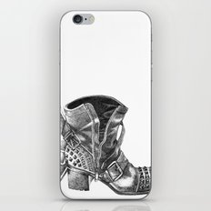 Studded Ankle Boot Pencil Drawing iPhone & iPod Skin