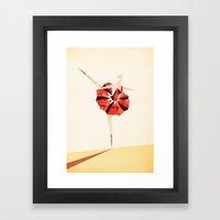 The Ballance ( Girl on fire) Framed Art Print