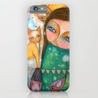 iPhone & iPod Case featuring Make a Wish! girl and Kittens by Atelier Susana Tavares