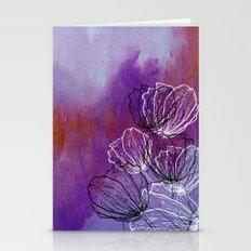 Colorful Flower Fantasy Stationery Cards