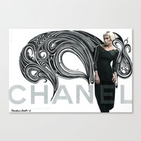 Chanel Ad Bomb By The Do… Canvas Print