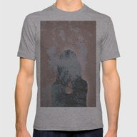 Hiding Behind Mens Fitted Tee Athletic Grey LARGE