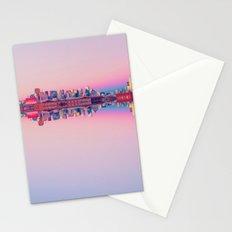 San Francisco Skyline Pattern Stationery Cards