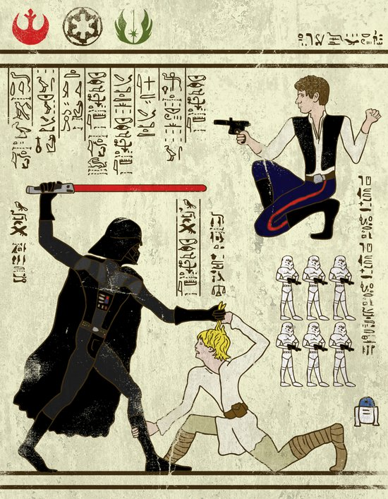 hero-glyphics: The Force Art Print