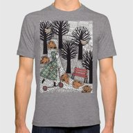 Autumn In The Park Mens Fitted Tee Tri-Grey SMALL