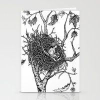 A bird without feathers Stationery Cards