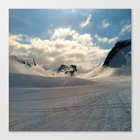 Snowcapped Iceland Canvas Print