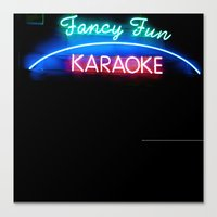 fancy fun karaoke Canvas Print