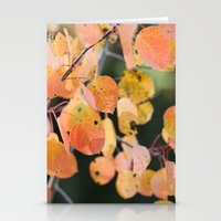 aspen leaves. Stationery Cards