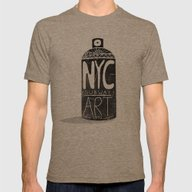 NYC 1972 Mens Fitted Tee Tri-Coffee SMALL
