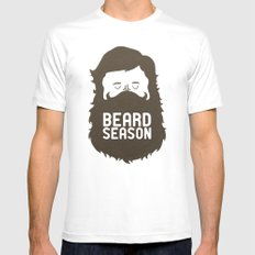 Beard Season White Mens Fitted Tee SMALL