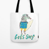 Surfer, surfing, surfboard,  Tote Bag