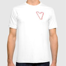Candy Cane Love Mens Fitted Tee SMALL White