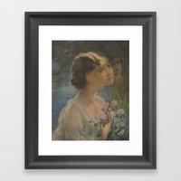 The Floating Girl Framed Art Print