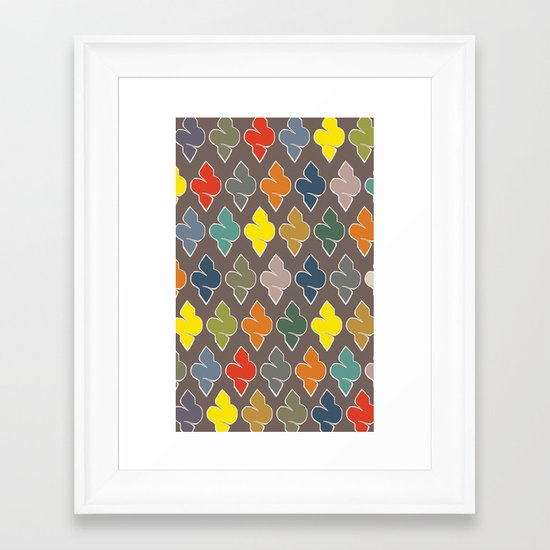 Color Spikes Pattern Framed Art Print