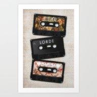 Cassettes Lana Lorde Mar… Art Print