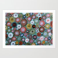 Round We Go Art Print