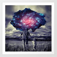 Art Print featuring Father With Child by Cs025