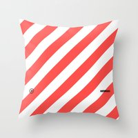 Infrared Lines / White Throw Pillow