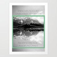 Unknown Pleasures Art Print
