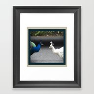 Mirror Image In Blue And… Framed Art Print