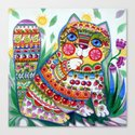 magic spring cat Canvas Print