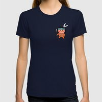 Little Red Indian Womens Fitted Tee Navy SMALL