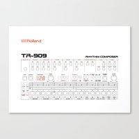 Rolland TR-909 Canvas Print