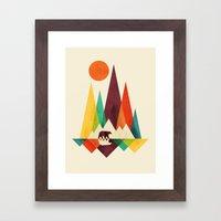 Bear In Whimsical Wild Framed Art Print