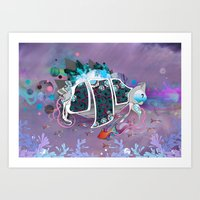 Old Elsie and the Storm Art Print